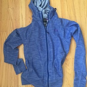 North Face heathered blue women's hoody S